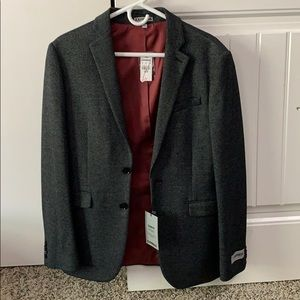 Express dark grey suit blazer sport coat
